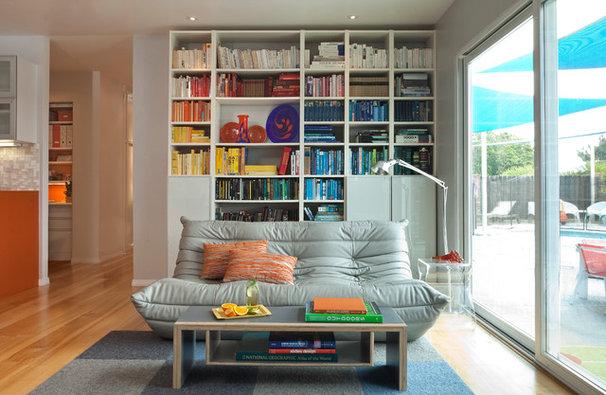 Midcentury Living Room by Kropat Interior Design