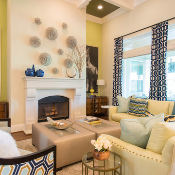 Colorful remodel, transitional style
