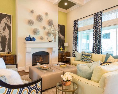 Green Walls Living Room Ideas Photos
