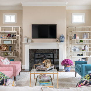 75 Beautiful Living Room with Beige Walls Pictures & Ideas ...