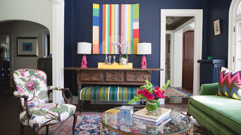 Colorful twist on traditional home