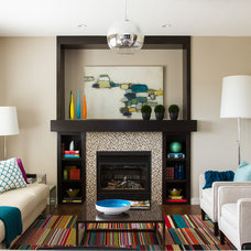 Contemporary Living Room by elle design