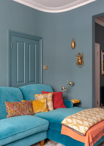 Eclectic Living Room by Kate Lovejoy Interiors