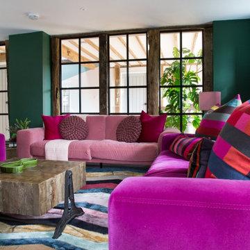 Colourful Living Room - Tenterden Oast