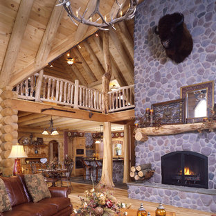 Columbia Station Rustic Log Home