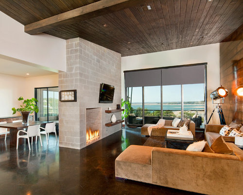 Floor To Ceiling Fireplace Houzz
