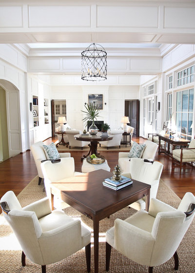 Fancy Eclectic Living Room by Margaret Donaldson Interiors
