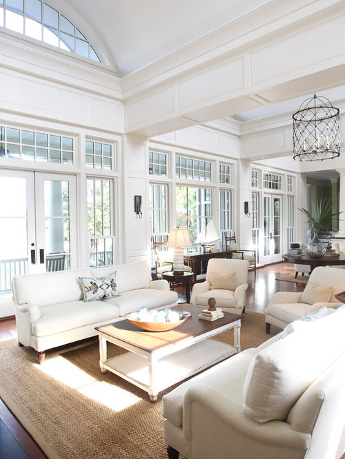 rectangle living room design. Example of a classic living room design in Charleston Rectangular Living Room  Houzz