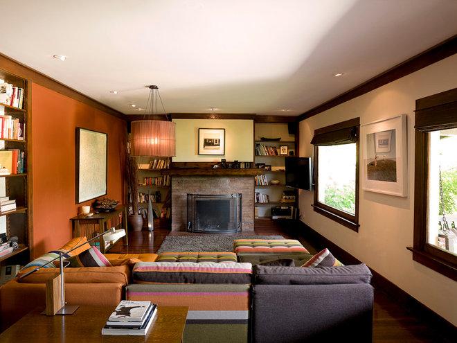 Eclectic Living Room by Angela Dechard Design
