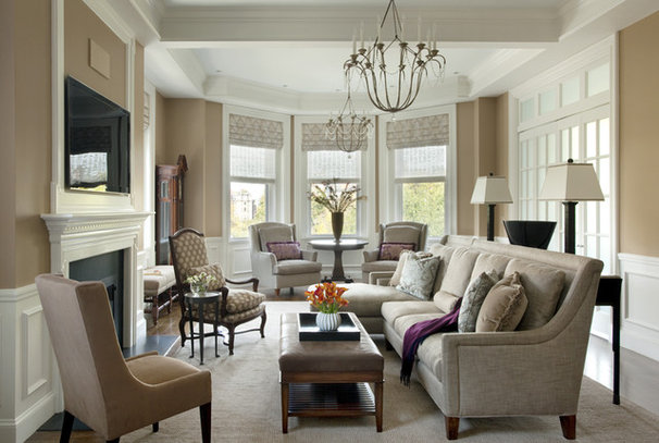 Traditional Living Room by Woodbourne Builders Inc