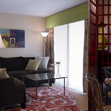 Mediterranean Living Room by Marcia Moore Design