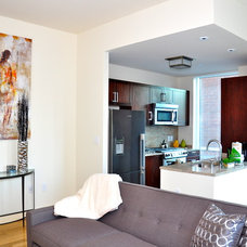 Modern Living Room by Compass Furnished Apartments