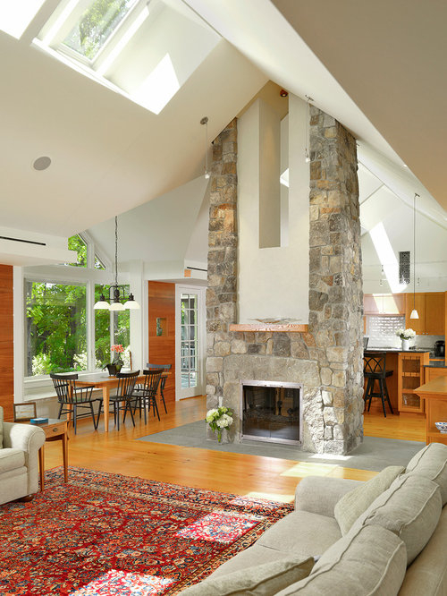 Central Fireplace Houzz
