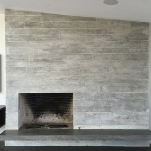 Inspiration for a modern living room remodel in Orange County