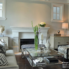 Traditional Living Room by Sculptural Design Cast Concrete