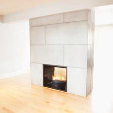 Contemporary Living Room by Sculptural Design Cast Concrete