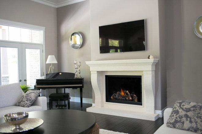 Contemporary Living Room by Dekko Concrete Decor