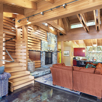 Concrete Floored Abode - a cabin on Lake Wenatchee