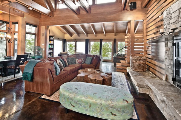Rustic Living Room by Gelotte Hommas Architecture