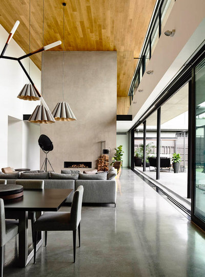 Modern Living Room by Matt Gibson Architecture + Design