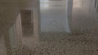 Concrete Polishing in Los Angeles Residential Living room Polishing