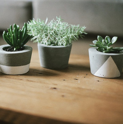 Industriell Vardagsrum by Concrete Pots