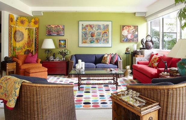 Eklektisch Wohnbereich by Tamra Rubin Design