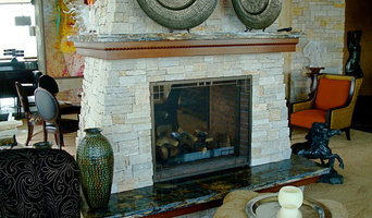 Condo fireplace and hearth