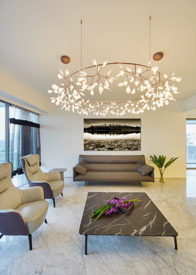 Modern Living Room by Vivid Snaps Photography