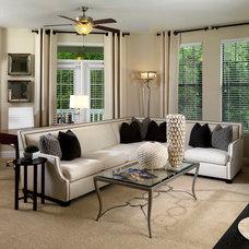 Contemporary Living Room by Terri White Design