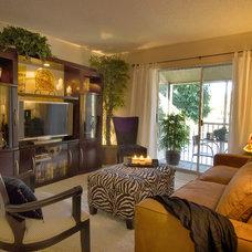 Contemporary Living Room by Barbara Krai Interior Design