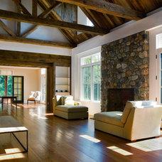 Farmhouse Living Room by Demetriades + Walker