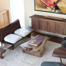 Contemporary Living Room by Peter Lawrence Woodworkers