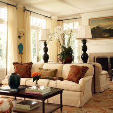 Traditional Living Room by David Neff, Architect