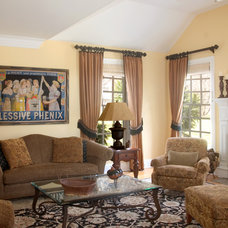 Traditional Living Room by Connie Cooper Designs
