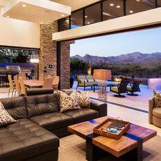 Contemporary Living Room by Regency Custom Homes