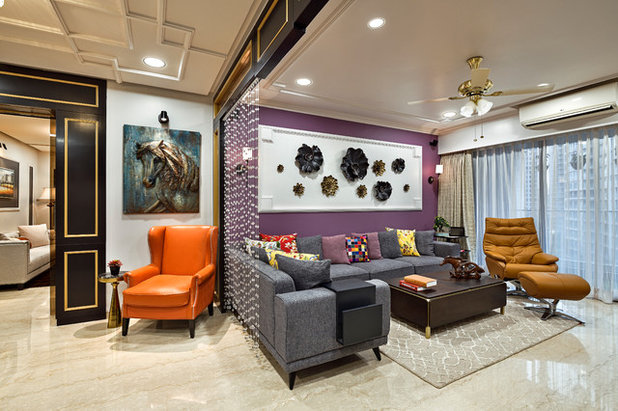 Contemporary Living Room by Shubham Photography