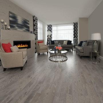 Contemporary & Sleek Gray Hardwood Flooring
