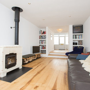 Contemporary apartment with Sweet Chestnut flooring throughout.