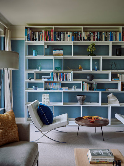 Transitional Living Room by Garry Meakins Studio