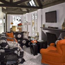 Contemporary Living Room by Harte Brownlee & Associates Interior Design