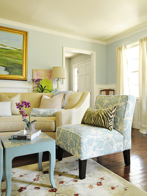 Gold And Blue Living Room | Houzz