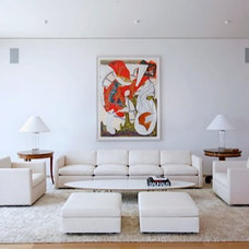 Contemporary Living Room by Finton Construction