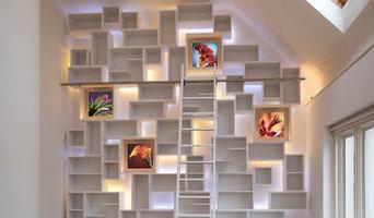 Contemporary Bookcase Installation