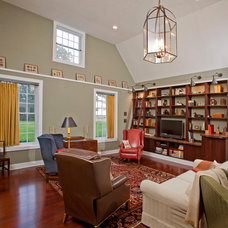 Traditional Living Room by Jeannine Petteruti