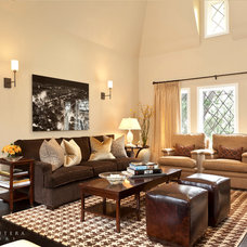 Transitional Living Room by Barclay Butera Interiors