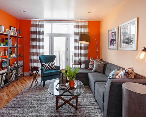 Gray And Orange Living Room Ideas, Pictures, Remodel And Decor