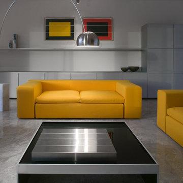 Contemporary Custom Living Room