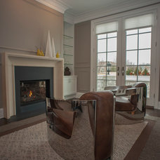Contemporary Living Room by Hensley Custom Building Group