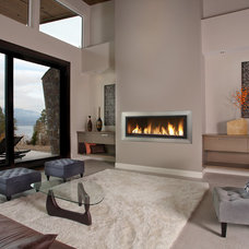 Contemporary Living Room by Wall to Wall Kitchen and Bath